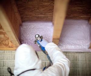 spray foam insulation installed in basement box sills